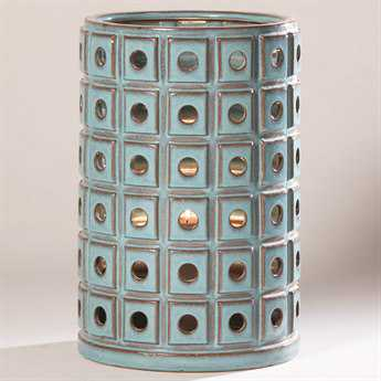 Alfresco Home Garden Pisa Ceramic Lantern