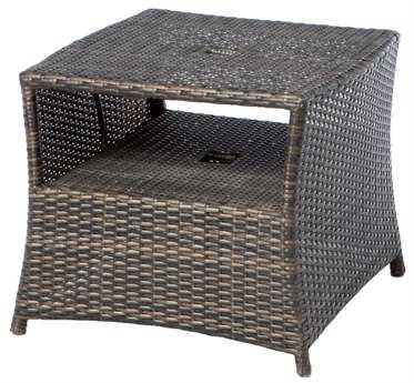 Alfresco Home Tutto All Weather Wicker 24 Umbrella Square Side Table