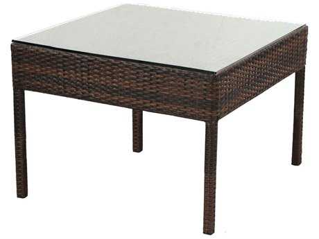 Alfresco Home Logan All Weather Wicker 30 Square Bunching Table