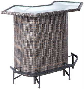 Alfresco Home Tutto Wicker Mezzo Bar Set