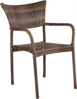 Alfresco Home Tutto Wicker Stackable Dining Arm Chairs (includes 2 chairs)