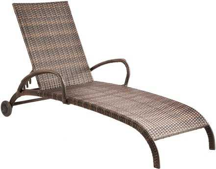 Alfresco Home Tutto Aluminum Wicker Arm Adjustable Patio Chaise Lounge
