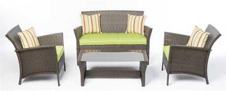 Alfresco Home Bimini All Weather Wicker 4 Piece Seating Group