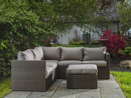 Alfresco Home La Palma All Weather Wicker Deep Seating Sectional Set