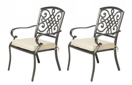 Alfresco Home Barcelona Cast Aluminum Dining 6 Piece Set in Cordial