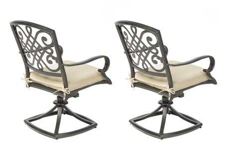 Alfresco Home Barcelona Cast Aluminum Dining Swivel Rockers Set of 2