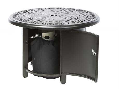 Alfresco Home Kinsale 36 Round Gas Fire Pit/Chat Table with Burner Kit