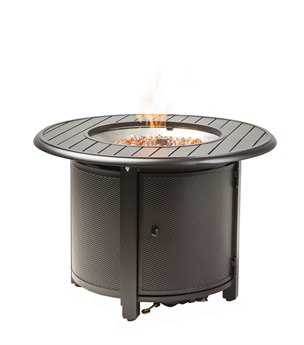 Alfresco Home Bay Ridge 36 Round Gas Fire Pit/Chat Table with Burner Kit