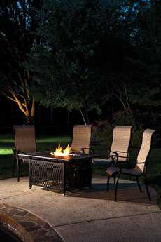 Alfresco Home Pescara Cast Aluminum 50 Rectangular Gas Fire Pit Chat Table with Burner Kit