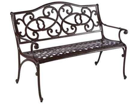 Alfresco Home Daffodil Cast Aluminum Bench
