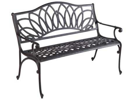 Alfresco Home Wisteria Cast Aluminum Bench