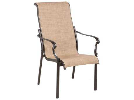 Alfresco Home Westbury Sling Cast Aluminum  Dining Arm Chair