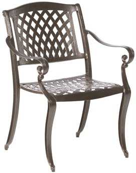 Alfresco Home Westbury Cast Aluminum Dining Chairs - Set of 4