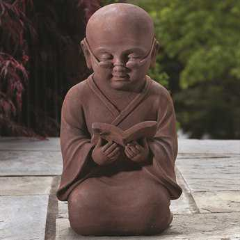 Alfresco Home Garden Reading Buddha Garden Statue