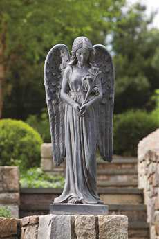 Alfresco Home Garden Standing Angel Statue