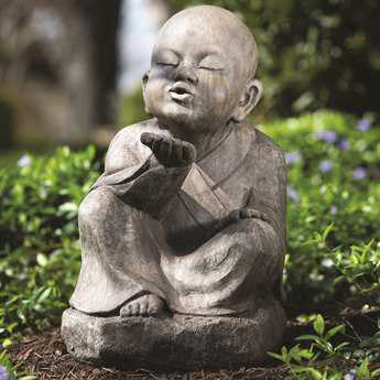 Alfresco Home Garden Wishing Buddha Statue