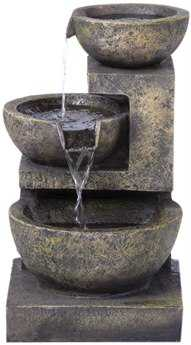 Alfresco Home Garden Rocca Outdoor Fountain