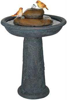 Alfresco Home Garden Resin Bird Bath Outdoor Fountain