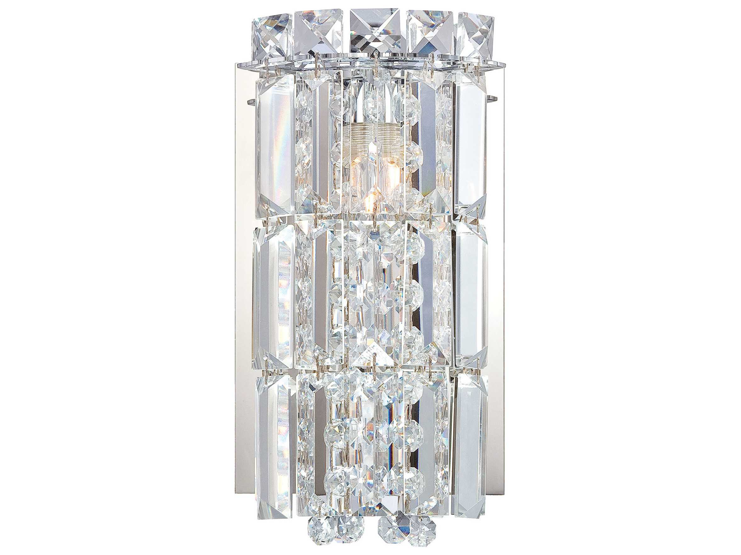 Vanity Lights With Clear Glass : Alico Princess Crown Chrome & Clear Crystal Glass Vanity Light ALCBV1351015