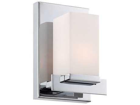 Alico Sleek Chrome & White Opal Glass Vanity Light