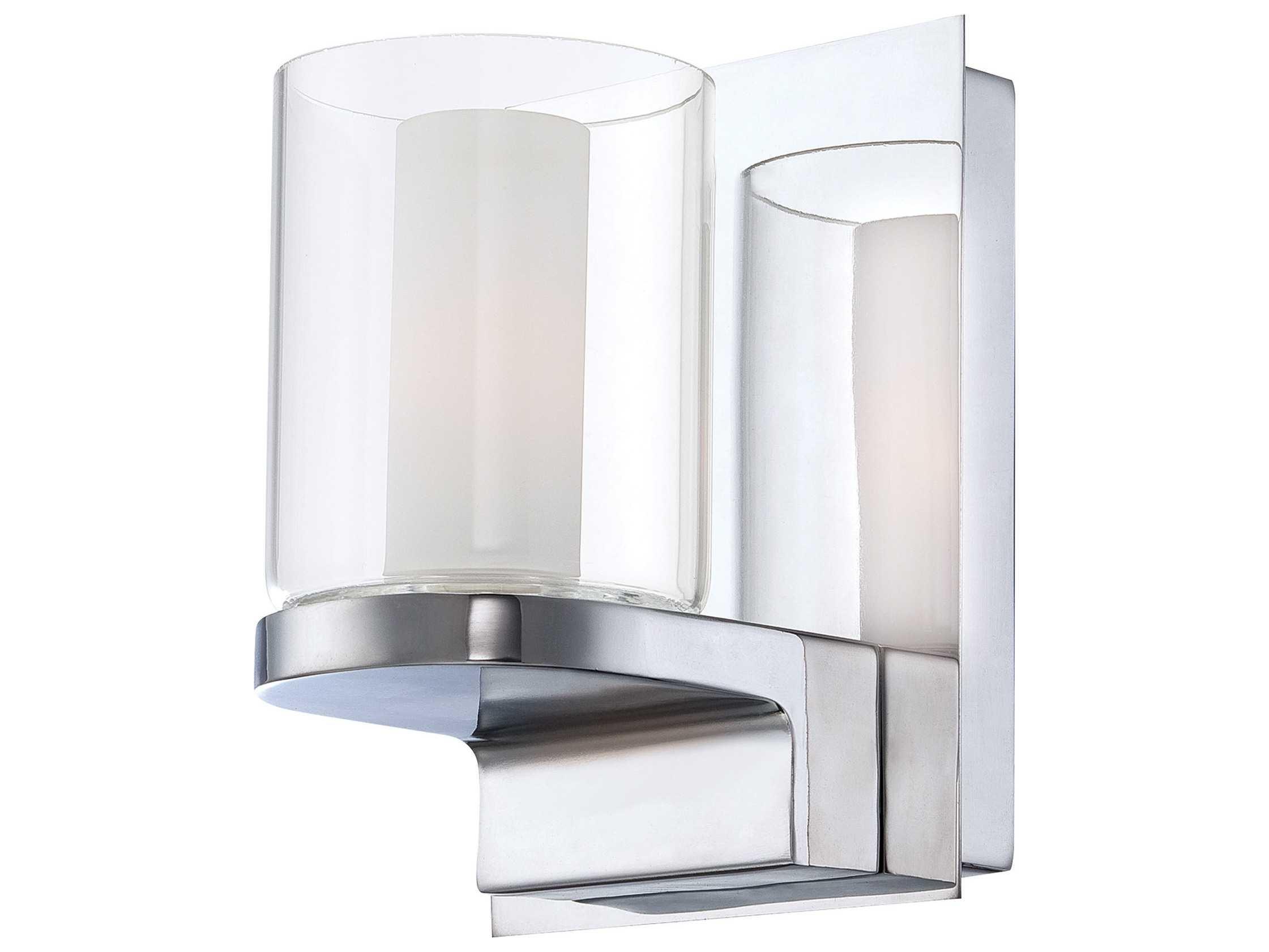 Vanity Light Glass : Alico Anchor Chrome & White Opal Glass Vanity Light ALCBV22119015