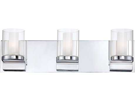 Alico Anchor Chrome & White Opal Glass Three-Light Vanity Light