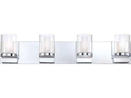 Alico Anchor Chrome & White Opal Glass Four-Light Vanity Light