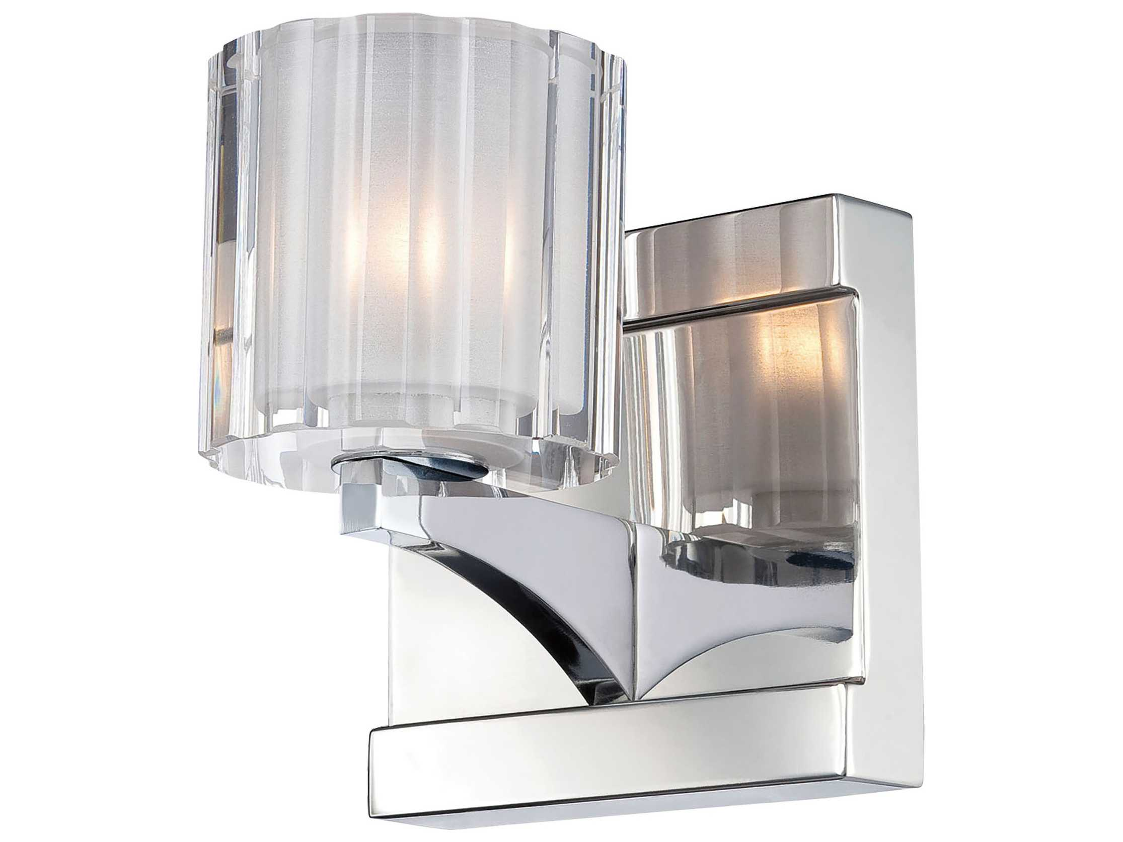 Alico Tiara Chrome & Crystal Glass Vanity Light ALCBV3001015