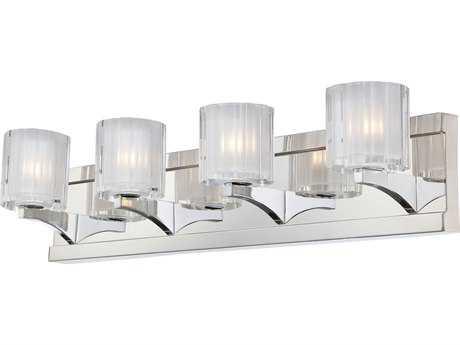 Alico Tiara Chrome & Crystal Glass Four-Light Vanity Light