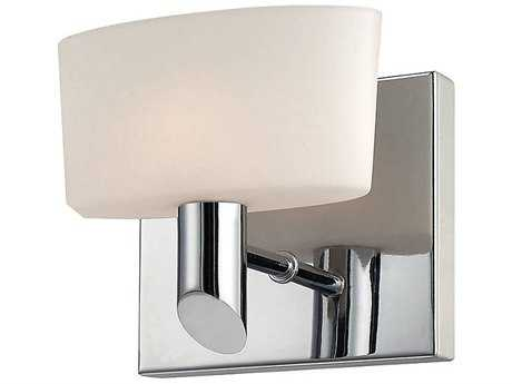 Alico Toby Satin Nickel & White Opal Glass Wall Sconce