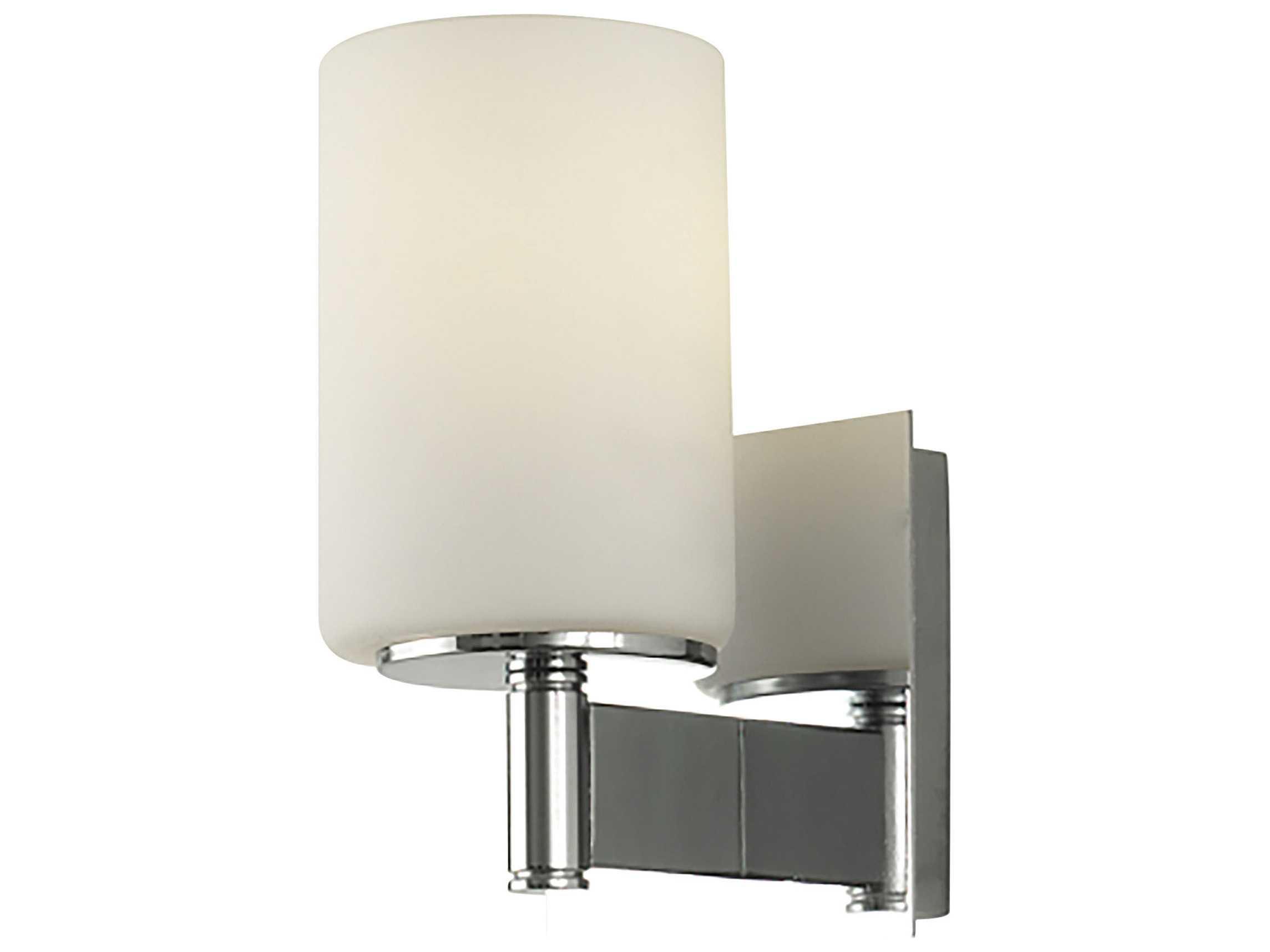 Vanity Light Glass : Alico Truss Chrome & White Opal Glass Vanity Light ALCBV70011015