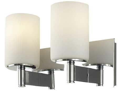 Alico Truss Chrome & White Opal Glass Two-Light Vanity Light