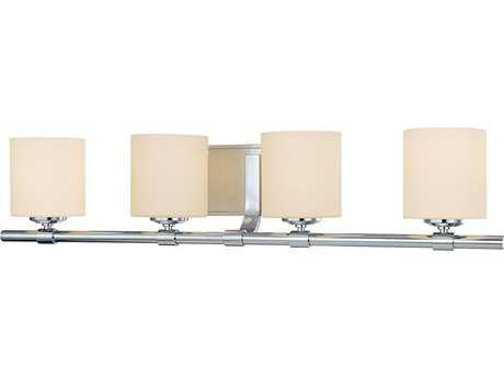 Alico Slide Chrome & White Opal Glass Four-Light Vanity Light