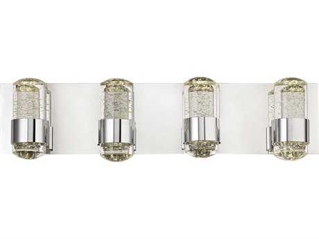Alico Surrey Chrome & Clear Glass Four-Light Vanity Light