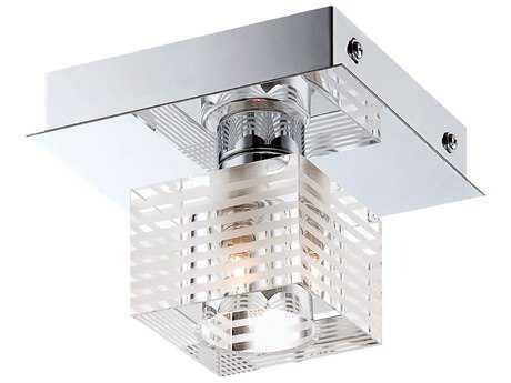 Alico Quatra Chrome 4.88'' Wide Semi-Flush Mount Light