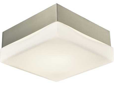 Alico Wyngate Satin Nickel 5'' Wide Flush Mount Light