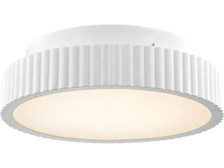 Alico Digby Matte White & Opal White Glass 120-Light 16'' Wide Semi-Flush Mount Light