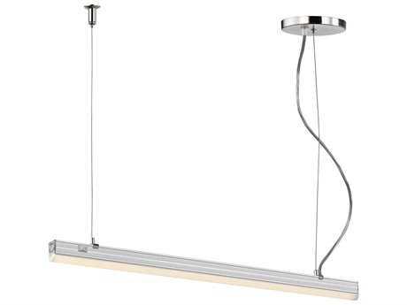 Alico Iris Aluminum & White Shade 24'' Wide Island Light