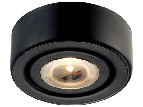 Alico Eco Black & Clear Glass 2.75'' Wide Cabinet Puck Light