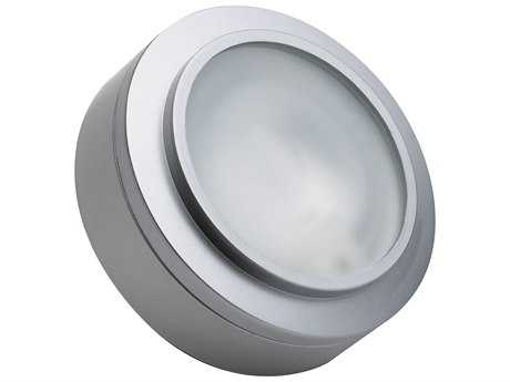 Alico Zeepuk Stainless Steel & Frosted Glass 1.19'' Wide Puck Cabinet Light