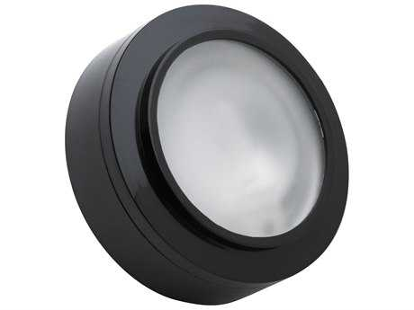 Alico Zeepuk Black & Frosted Glass 3.13'' Wide Puck Cabinet Light