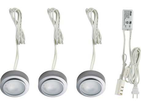 Alico Zeepuk Stainless Steel & Frosted Glass 3.13'' Wide Three-Light Puck Light Kit