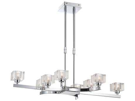 Alico Quatra Chrome 31'' Wide Chandelier
