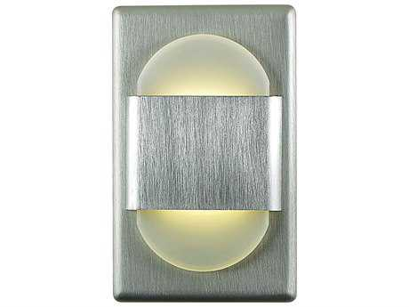 Alico Ez Step LED Brushed Aluminum & White Opal Shade Step Light