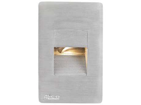 Alico Aperture Stainless Steel & Opal White Glass Outdoor Step Light
