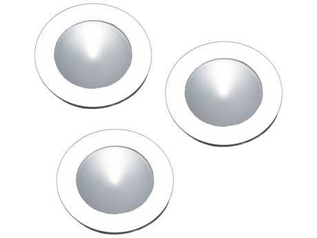 Alico Polaris White & Clear Shade 2.75'' Wide Three-Light Puck Light Kit