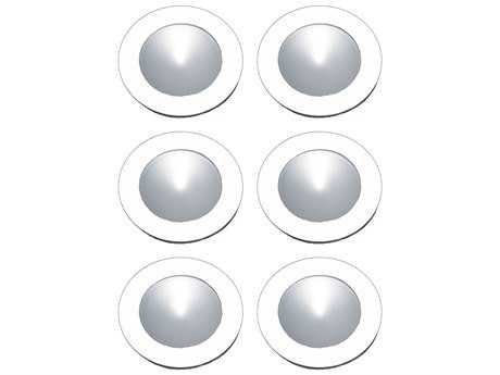 Alico Polaris White & Clear Shade 2.75'' Wide Six-Light Puck Light Kit