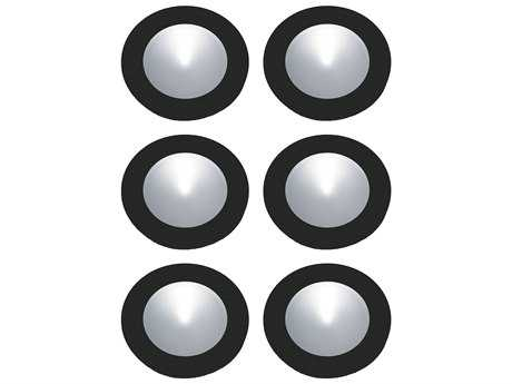 Alico Polaris Black & Clear Shade 2.75'' Wide Six-Light Puck Light Kit