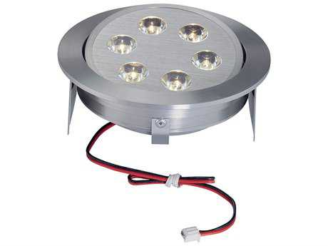 Alico Tiro 6 Brushed Aluminum & Clear Shade Six-Light 4.75'' Wide Recessed Light