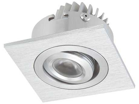 Alico LED Squared Brushed Aluminum & Clear Shade 2.36'' Wide Recessed Light